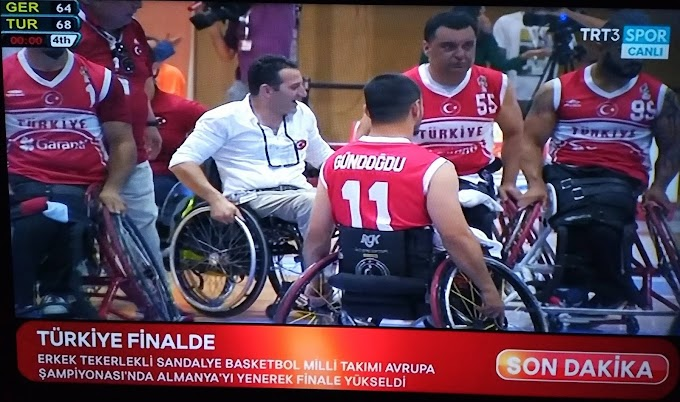 Türkiye Erkek Tekerlekli sandalye basketbol milli takımı finalde