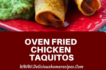 Oven Fried Chicken Taquitos #christmas #snack