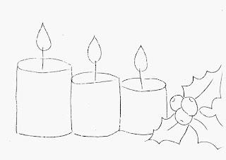 risco de barrado de velas de natal para pintar