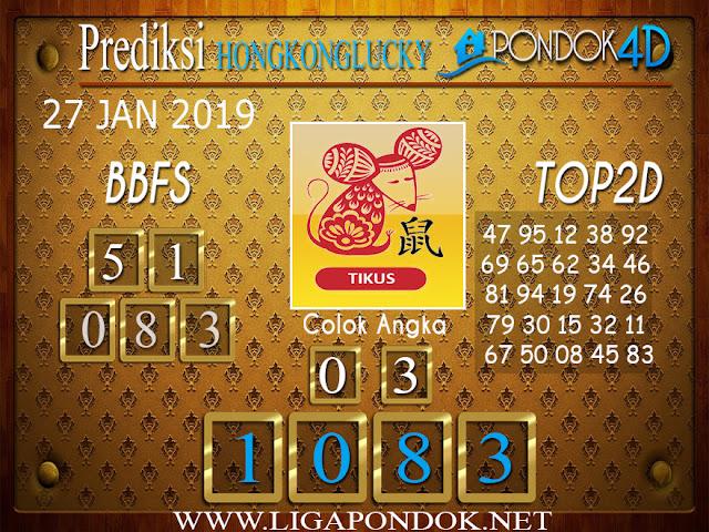 Prediksi Togel HONGKONG LUCKY7 PONDOK4D 27 JANUARI 2019