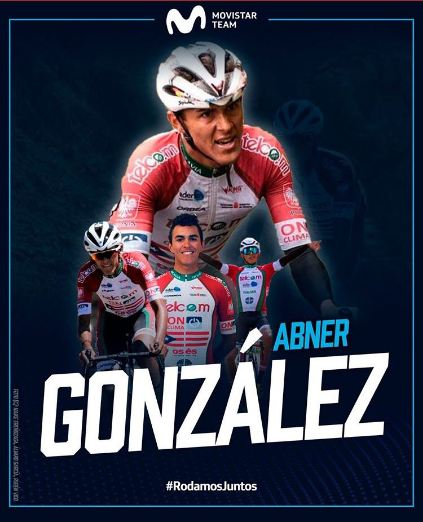 El equipo Movistar Team se refuerza con Abner González
