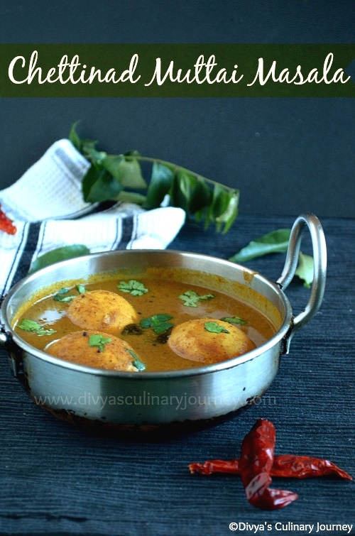 Spicy egg curry made in chettinad style