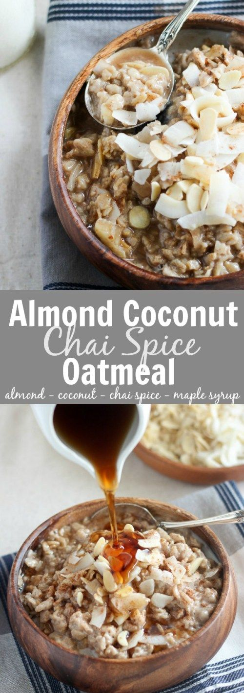 ALMOND COCONUT CHAI SPICE OATMEAL