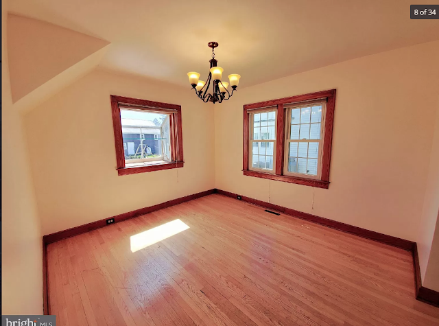 upstairs bedroom wood floors and craftsman trim Sears Lorain • 270 Broad Street, Landisville, Pennsylvania