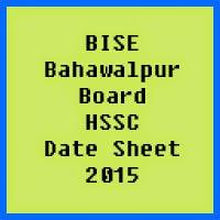 Bahawalpur Board HSSC Date Sheet 2017, Part 1 and Part 2