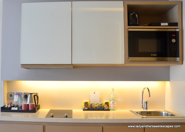 kitchenette at Capital Centre Arjaan by Rotana