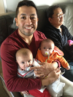 on a plane with twin babies