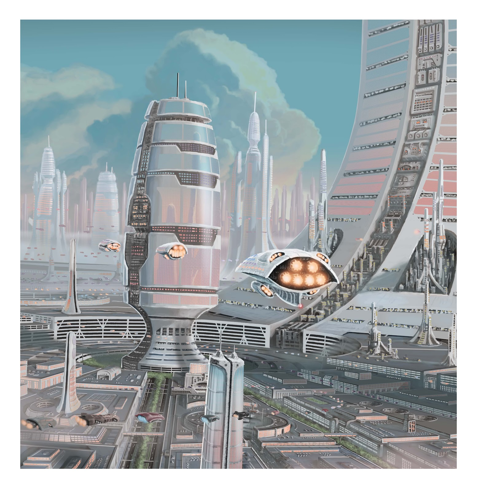 The Art Of Jon Hrubesch: Future City