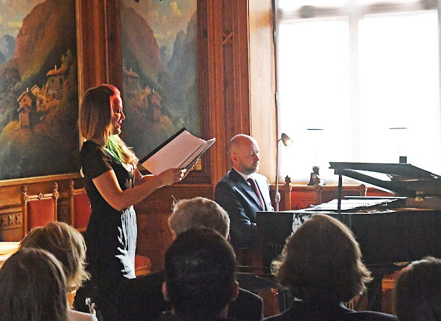 Mari Eriksmoen and Sveinung Bjelland at Osarshall Palace, Queen Sonja International Music Competition (Photo Sven Gjeruldsen, The Royal Court)
