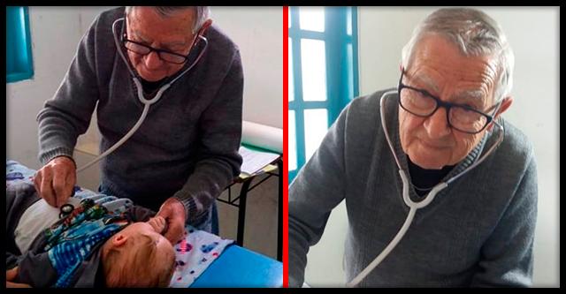 92-летний педиатр бесплатно лечит детей из бедных семей!