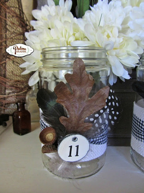 mason jar fall centerpiece