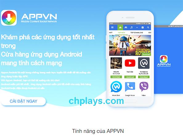 Tải AppVN - Kho ứng dụng AppStoreVN Apk về máy Android miễn phí