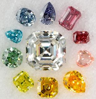 Kim cương có màu đặc biệt như hồng, xanh dương và xanh lá cây