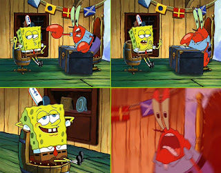 Polosan meme spongebob dan patrick 51 - spongebob kebal marah