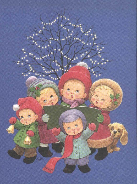 niños cantando en navidad