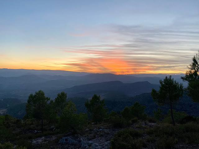 Sunset from a hilltop near Chelva, Valencia Region, Spain