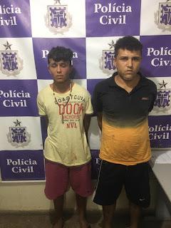 25ª Coorpin de Euclides da Cunha prende dois indivíduos do baralho do crime no Bairro Dengo