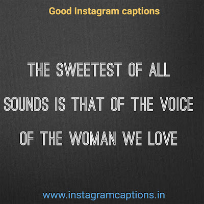 Good Instagram Caption women