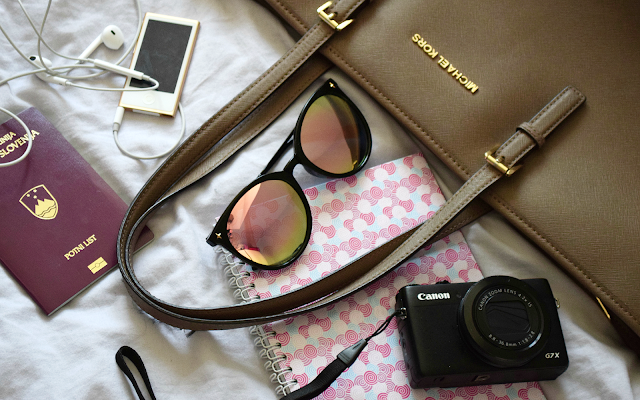 what's in my carry-on bag and michael kors jet set travel tote review