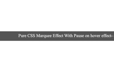 Pure CSS Marquee Effect With Pause on Hover Effect - Devilcoded