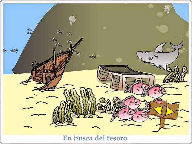 """""""En busca del tesoro"""" (Juegos de Matemáticas de Educación Infantil)"""