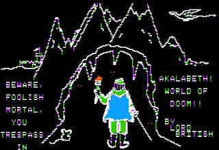 Pantalla inicio Akalabeth - World of Doom