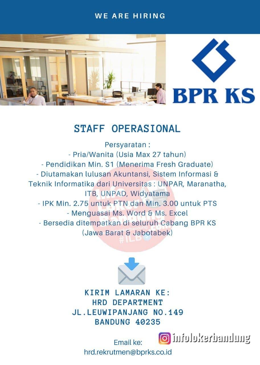 Lowongan Kerja Staff Operasional PT.BPRKS Bandung Januari 2021