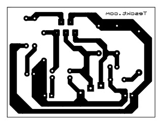dual power tda2030 amplifier pcb layout