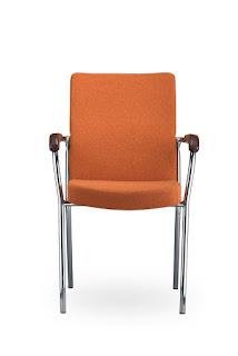 Scaun vizitatori conferinte Loco II Click portocaliu