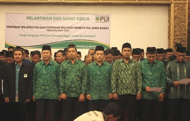 Pengurus DPW PUI Jabar 2016–2021 Dilantik