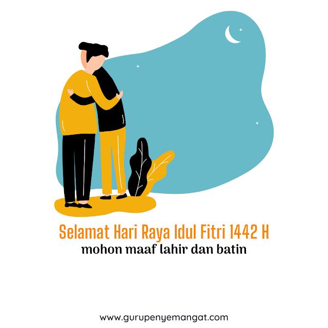 Contoh Kartu Ucapan Idul Fitri PNG 2