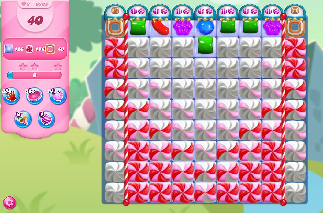 Candy Crush Saga level 9205