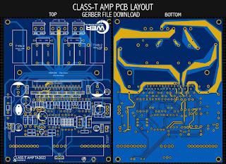 PCB Layout TA2022 Tripath class-t amplfier