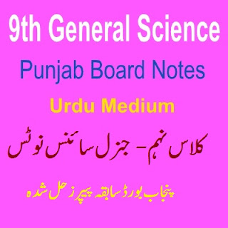 Chapter Wise Notes General Science 9th Class Punjab Board