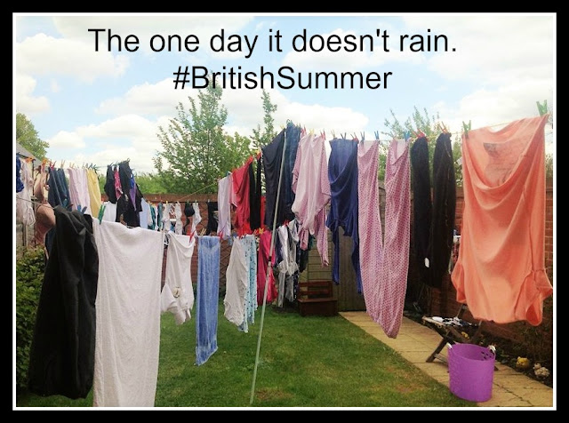 Meme featuring a garden crisscrossed with several washing lines!