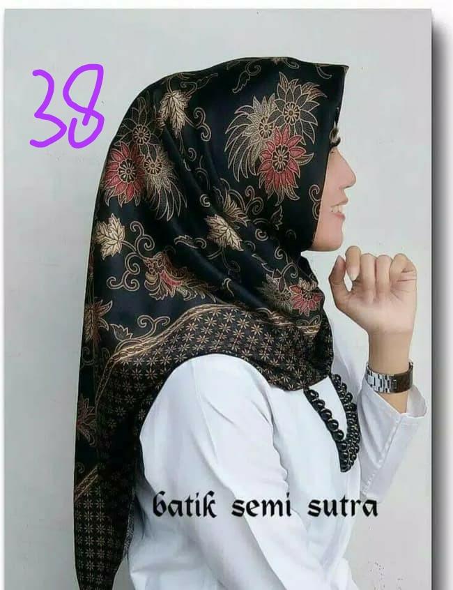 Jilbab Batik Sutera Murah Motif Terbaru