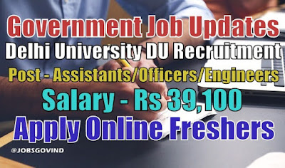 Delhi University DU NTA Recruitment 2021