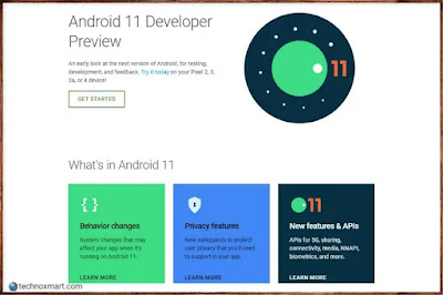 android 11 developer site preview on live, android 11,android 11 developers,
