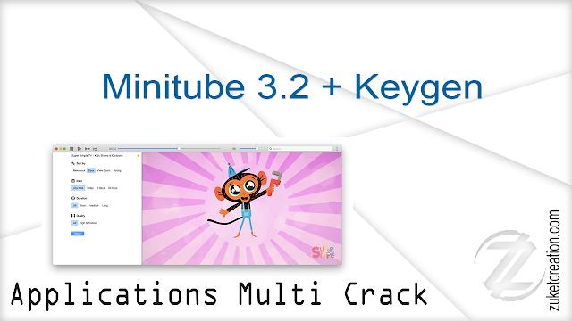 Minitube 3.2 + Keygen