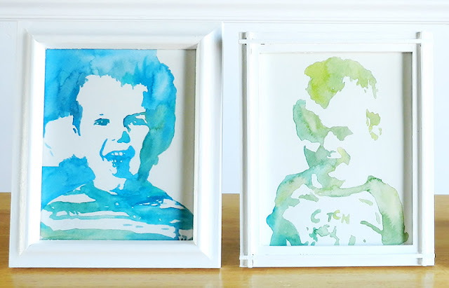DIY Easy Watercolor Portraits- free art tutorial