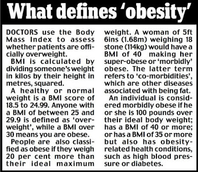 obesity what it is and what A person is considered obese when his or her weight is 20% or more above normal weight webmd takes a look at obesity and some solutions.