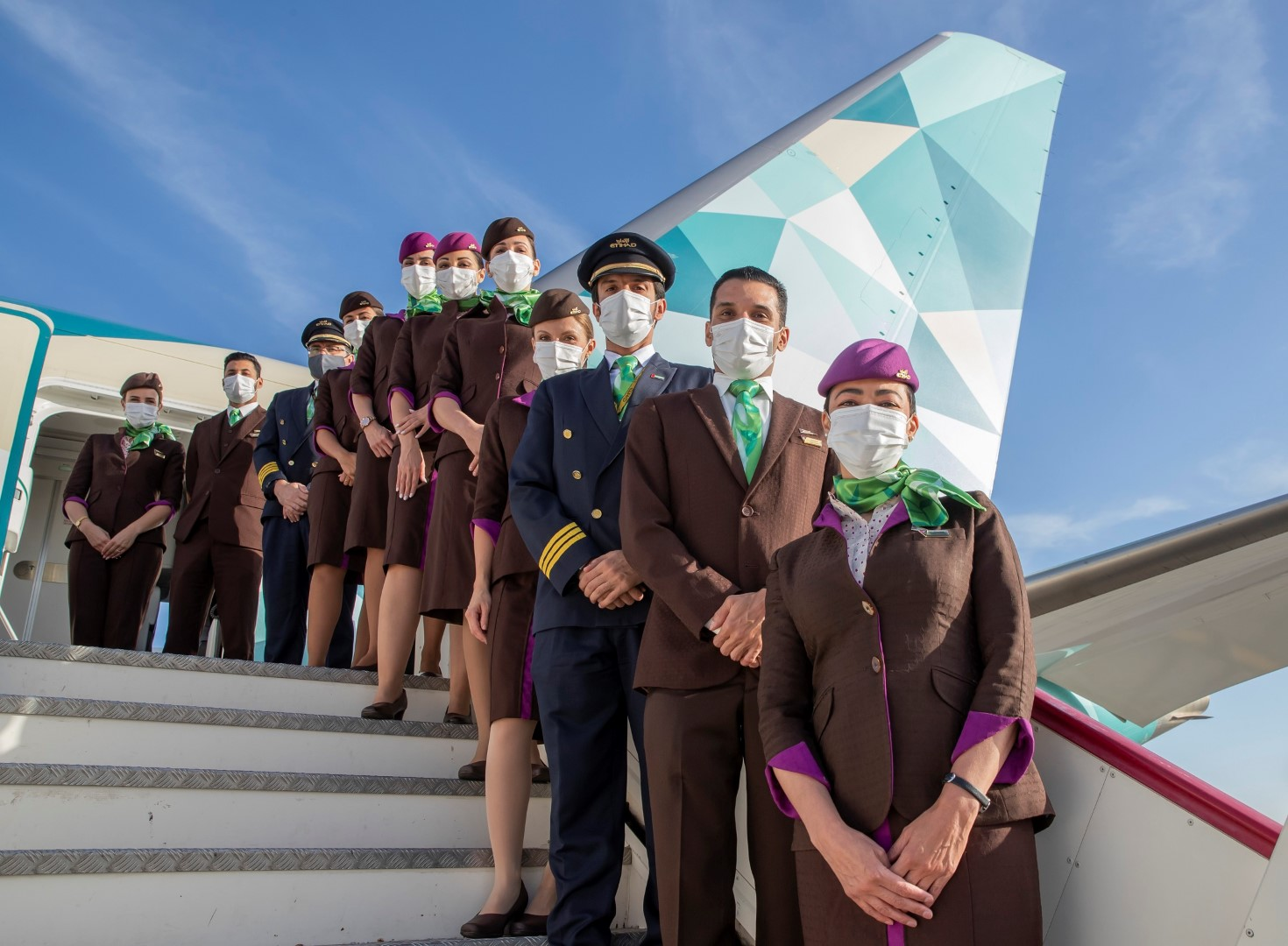 UAE National Carrier Etihad Airways, operates first ecoFlight for 2021 - the Etihad Greenliner
