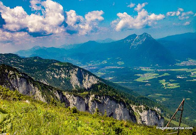 Paisagem no topo do Untersberg, Salzburgo