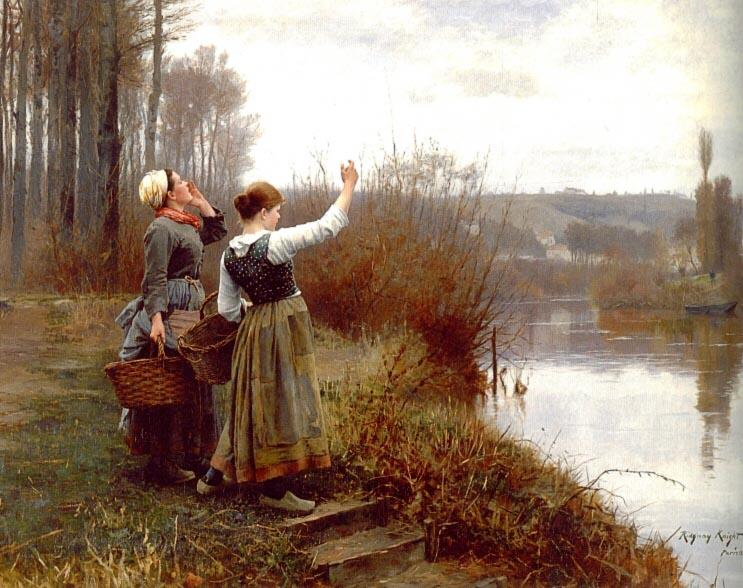 Saudando o Ferry - Daniel Ridgway Knight e suas mais belas pinturas
