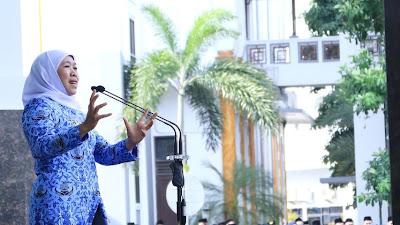 Pimpin Apel Pagi, Gubernur Khofifah Tekankan Pentingnya Sinergitas dalam Orkestrasi Pemprov Jatim