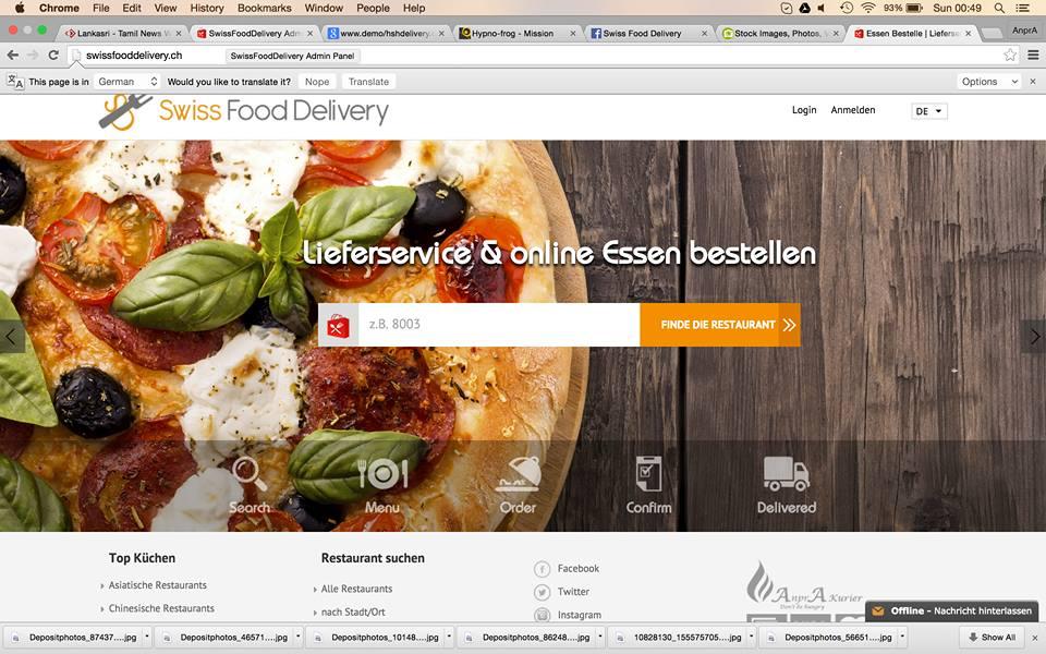 Online Order in Zurich   SwissFoodDelivery