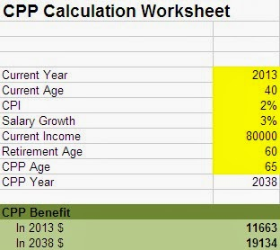 Spreadsheets and Financial Basics: CPP Benefit Calculator