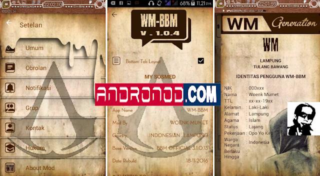 WM-BBM Mod Versi 3.1.0.13 Apk by Woeng Mumet