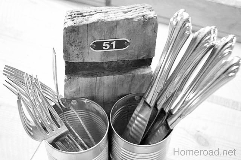 Recycled Grab and Go Silverware Organizer