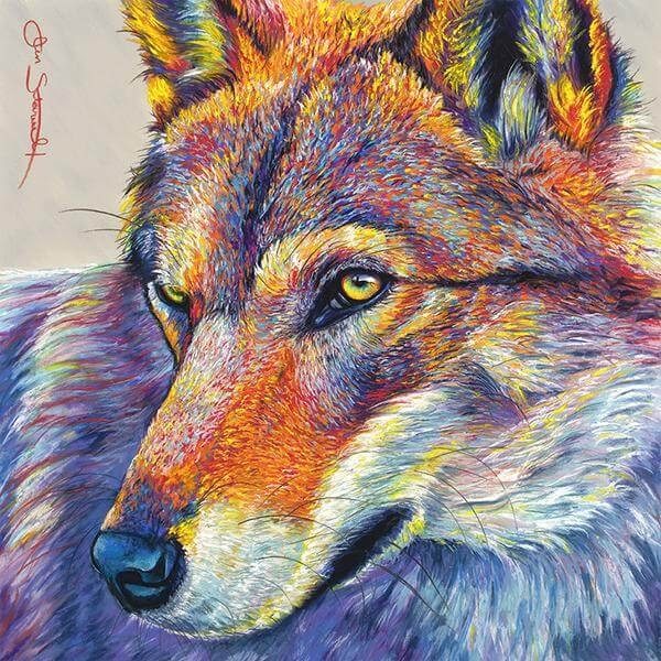 02-Wolf-Large-Scale-Soft-Pastel-Drawings-Of-Wild-Ainimals-www-designstack-co